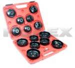 HOREX AUTO HZ 25.1.009-1 Набор чашек для снятия масляного фильтра 65-100мм, 15 предметов