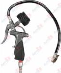 YATO YT-23701 Пистолет пневматический для накачивания шин с манометром, 8 бар, 1/4 inch, 440 мм, блистер