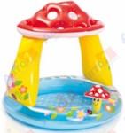 INTEX Надувной детский бассейн с навесом Грибок, 102х89 см, (для детей от 1 до 3 лет)
