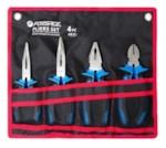 Forsage 5046C Набор шарнирно-губцевого инструмента 4пр. (БОКОРЕЗЫ, ПЛОСКОГУБЦЫ, УТКОНОСЫ ПРЯМЫЕ/ИЗОГНУТЫЕ)