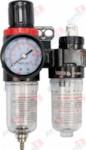 YATO YT-2384_Блок подготовки воздуха фильтр. редуктор, смаз. прибор, 1/4 inch, 25 см3, смазка - 15 см3, 9