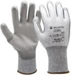 WURTH 0899407109 Перчатки защитные трикотажные, покрыты полиуретаном, PU CUT4, р-р. 9
