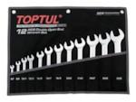 TOPTUL Набор ключей рожк. 6-32мм 12шт (черное полотно) (GPAJ1202)