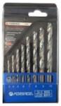 Forsage DBS08 Набор сверел по металлу HSS 8пр.(3,4,5,6,7,8,9,10мм), в пластиковом футляре