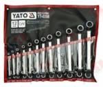 YATO YT-0398 Набор ключей накидных изогнутых 12 пр, 6-32мм, на полотне