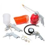 PARTNER 8031K5-G_Набор пневмоинструментов 5 пр: краскораспылитель сопло 1.5 мм + 2.0 мм, шланг воздушный с ф