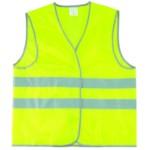 ELITPROFI R121-1Y Жилетка светоотражающая сигнальный с четырьмя свето-отражающими полосами (4 СОП), ткань - синтетика, 1 класс защиты, СОП - 5 см, застежки-липучки, карманы, цвет желтый, 100г