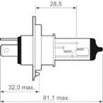 VALEO 032007 H4 (Essential/Premium) 12V 60/55W