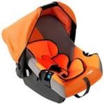 SIGER KRES0074 Автокресло детское ЭГИДА ЛЮКС, (0+), 0-13 кг, оранжевый