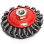 GEPARD GP0885-125 Щетка дисковая косичка для шлиф.маш. гофр.125мм/M14
