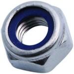 WRT 21382 Гайка с контрящим кольцом M10x1.5 mm, S16 (ключ 16), H8.56 (высота), DIN985, оцинкованная