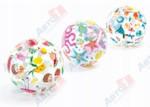 INTEX Надувной мяч Lively Print, 51 см, (от 3 лет, цвета в ассортименте)