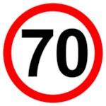 AUTOSTICKERZ ASZ0001 Наклейка знак «Ограничение скорости 70» (знак 70) 17 х17 см