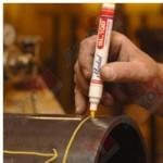 MARKAL Маркер промышл. перманентный на основе жидк. краски SL100 БЕЛЫЙ (Толщина линии 3 мм. Цвет белый)
