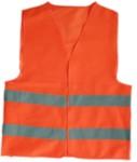 ELITPROFI R121-1O Жилетка светоотражающая сигнальный с четырьмя свето-отражающими полосами (4 СОП), ткань синтетика, 1 класс защиты, СОП - 5 см, застежки-липучки, карманы, цвет оранжевый, 100г