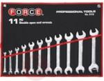 Force 5112 Набор рожковых ключей 11пр. (6х7, 8х9, 10х11, 12х13, 14х15, 16х17, 18х19, 20х22, 21х23, 23х26, 24х27мм) на полотне