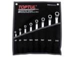 TOPTUL Набор ключей накидн. 6-22мм 8шт (черное полотно) (GPAI0802)