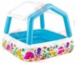 INTEX Надувной детский бассейн с навесом Sun Shade, 157х157х122 см, (от 2 лет)