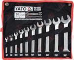 YATO YT-0380_Набор ключей рожковых 10 пр: 6х7, 8х9, 10х11, 12х13, 14х15, 16х17, 18х19, 20х22, 21х23, 24х2