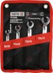 YATO YT-0143_Набор ключей разрезных 4 пр: 8х10, 11х12, 13х14, 15х17, на полотне
