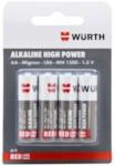 WURTH 8270014 Элемент питания алкалиновый AA/LR6-1.5V (упак. - 4 шт)