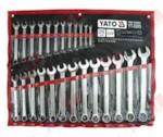 YATO YT-0365 Набор ключей комбинированных 25 пр: 6-28, 30, 32 мм, на полотне