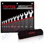 TOPTUL Набор ключей рожк. 6-32 мм 10 шт в сумке (цвет: чёрный) (GPCJ1001)