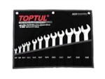 TOPTUL Набор ключей рожк. 6-22мм 8шт (черное полотно) (GPAJ0802)