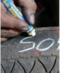 MARKAL Маркер промышл. на основе твердой краски для шин БЕЛЫЙ (толщ. линии 12.7 мм) (Цвет белый)