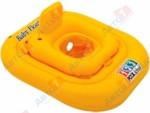 INTEX Надувной круг для плавания с сиденьем Pool School Deluxe, 79х79 см, (от 1 до 2 лет)